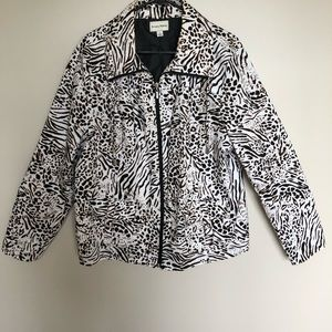 Studio Works Animal Print Lightweight Jacket